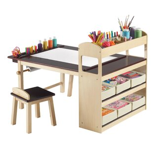 Emilio Kids 3 Piece Arts and Crafts Table and Chair Set  sc 1 st  AllModern & Modern Kids Table + Chair Sets | AllModern