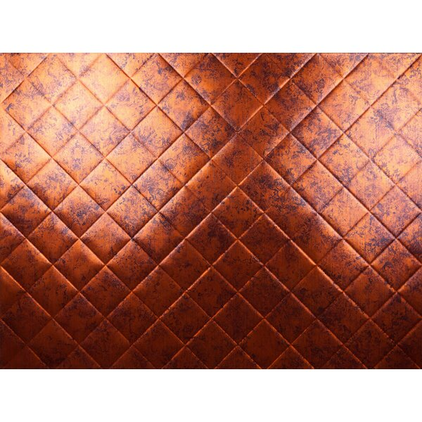 MiniQuilted Backsplash Wall Paneling 18 x 24 Field Tile in Moonstone Copper by MirroFlex