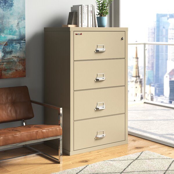 Fireproof Insulated 4-Drawer Vertical Filing Cabinet