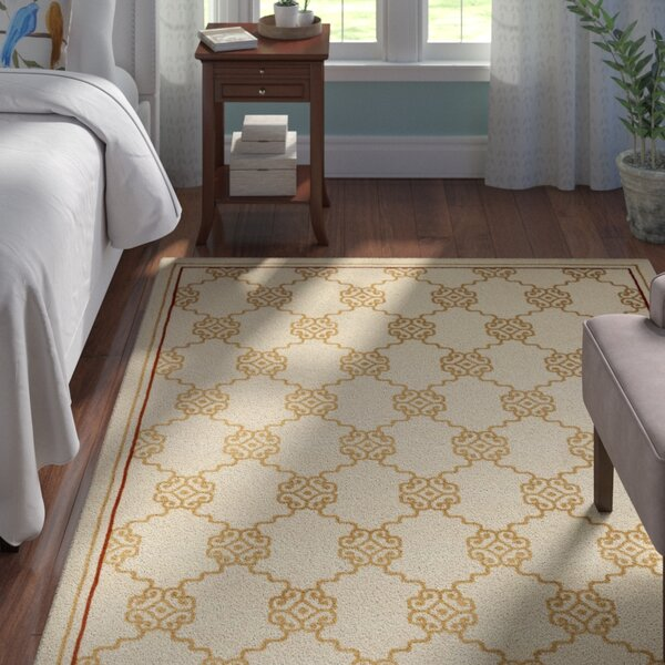 Ivory Trellis Area Rug by Andover Mills