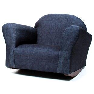 Ordinaire Santillan Denim Childrenu0027s Cotton Rocking Chair