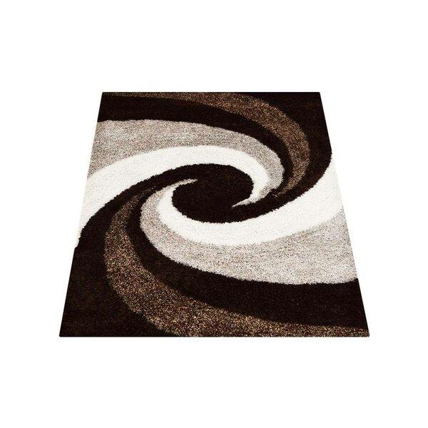 Predmore Contemporary Hand-Tufted Brown/Beige Area Rug by Latitude Run