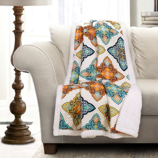 Cherie Sherpa Throw by Bungalow Rose
