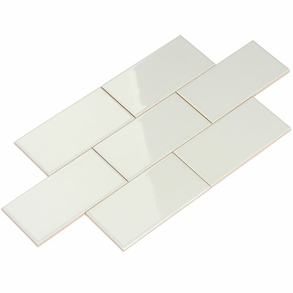 3 x 6 Ceramic Subway Tile in Light Gray by Giorbello
