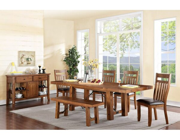 Caldervale Rustic Solid Wood Dining Table by Loon Peak
