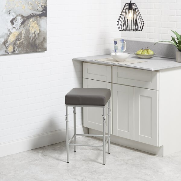 Dabbs Upholstered 24''Bar Stool by Ebern Designs