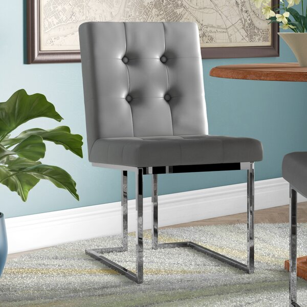 Bellamy Chrome Side Chair (Set of 2) by Everly Quinn