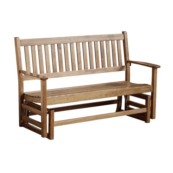 Franklin Springs Hardwood Porch Glider Bench by August Grove