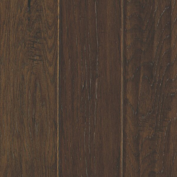 Windworn 5 Engineered Hickory Hardwood Flooring in Mocha by Mohawk Flooring