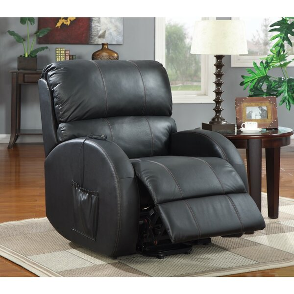 Wilkens Awesome Leatherette Power Recliner by Canora Grey