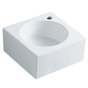 Find a Villa Ceramic 15 Wall Mount Bathroom Sink ByKingston Brass