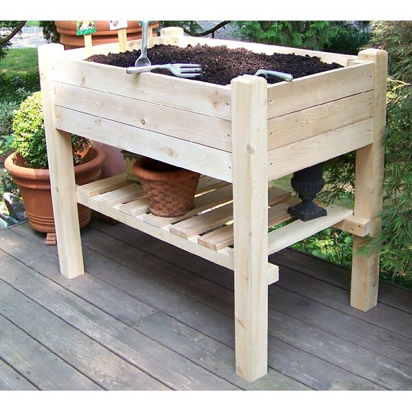 3.5 ft x 2 ft Natural Cedar and Cypress Raised Garden by Bar Harbor Cedar