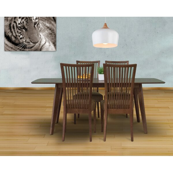Bohostice 5 Piece Solid Wood Dining Set by Latitude Run