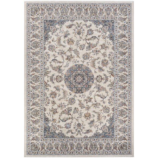 Grimaldo Medallion Antique Cream Area Rug by Alcott Hill