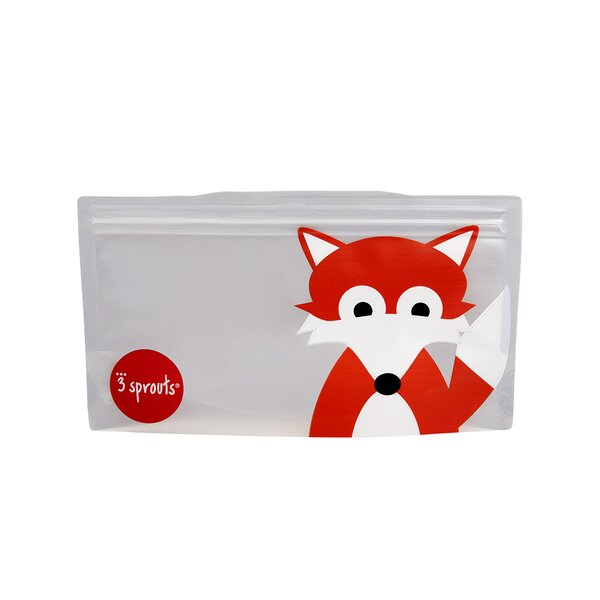 Fox Snack Bag (Set of 2) by 3 Sprouts