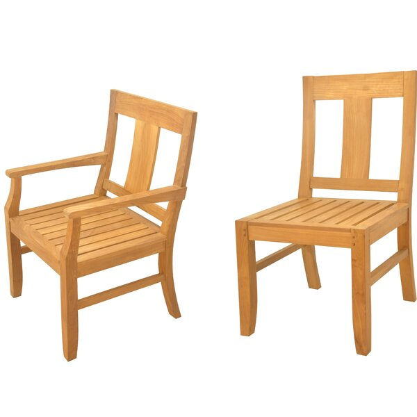 Kevon 7 Piece Teak Dining Set by Rosecliff Heights