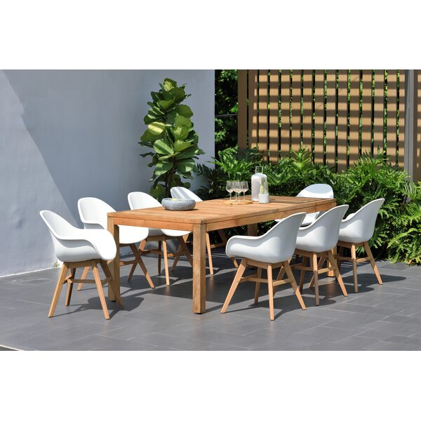 Alshain 9 Piece Teak Dining Set by Mercury Row