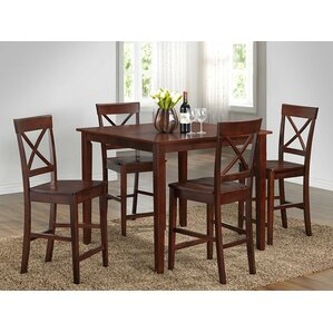 5 Piece Pub Table Set by Roundhill Furniture
