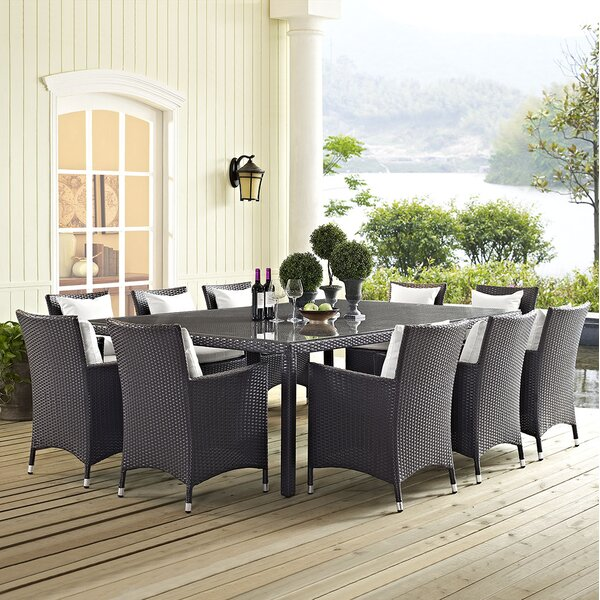 Brentwood 11 Piece Dining Set with Cushion by Sol 72 Outdoor