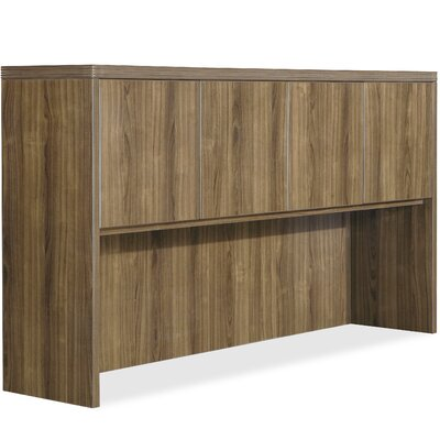 "Chateau Laminate Desk Shell Lorell Size: 38.19"" H x 74.02"" W x 5.12"" D, Finish: Walnut"