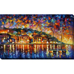 Island Sunset by Leonid Afremov Painting Print on Wrapped Canvas by Picture Perfect International