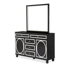 Sky Tower 5 Drawer Dresser with Mirror by Michael Amini (AICO)