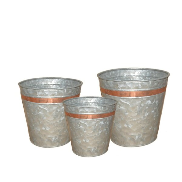 Galvanized 3 Piece Planter Box Set by BIDKhome