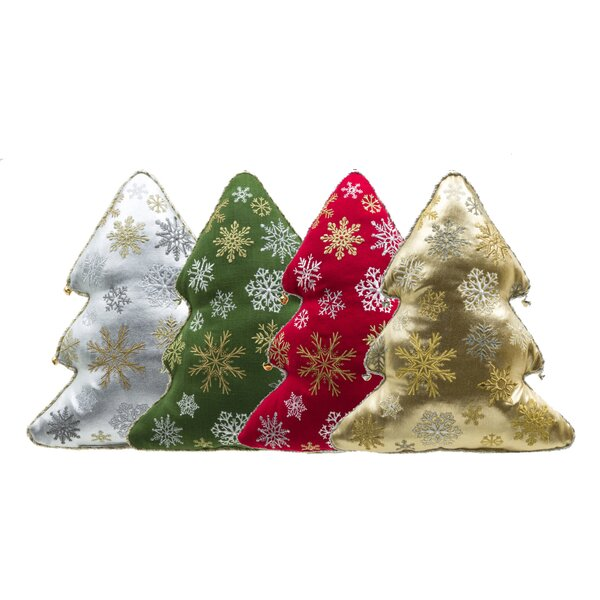 Holiday Tree Throw Pillow (Set of 4) by 14 Karat Home Inc.