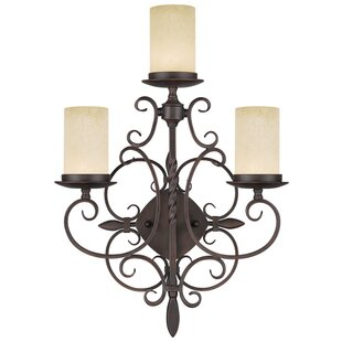 Purchase Bressler Crushed Ice™ 3-Light Armed Sconce By Fleur De Lis Living