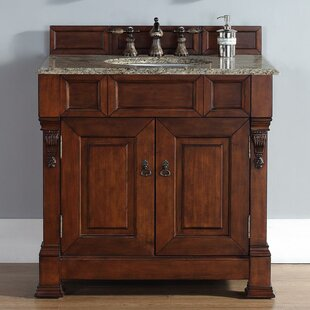 Bedrock 36 Single Warm Cherry Bathroom Vanity Set By Darby Home Co