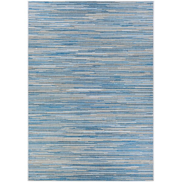 Lorenzo Blue/Gray Indoor/Outdoor Area Rug by Langley Street