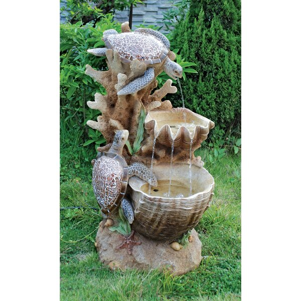 Resin Turtle Cove Cascading Sculptural Fountain with LED Light by Wildon Home ®