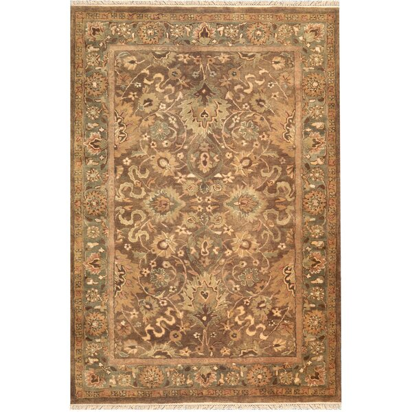 American Home Classic Mahogany Esfahan Brown/Sage Area Rug by American Home Rug Co.