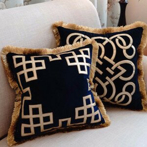 Triomphe Embellished Pillow Cover by G Home Collection