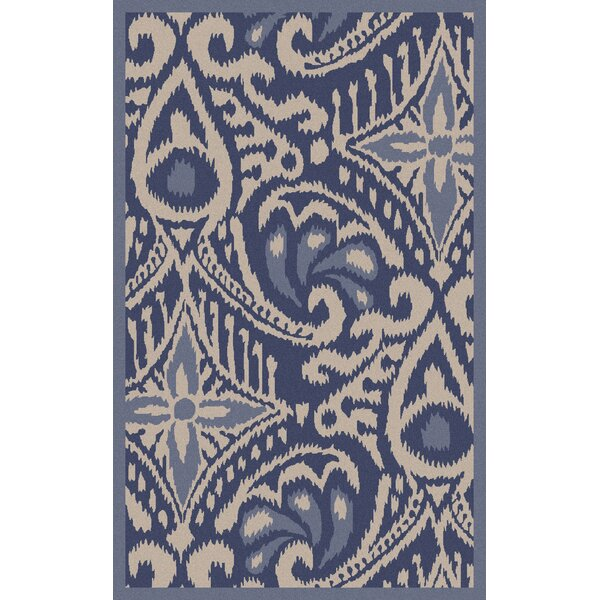 Marseille Hand Woven Wool Cobalt Area Rug by KD Spain