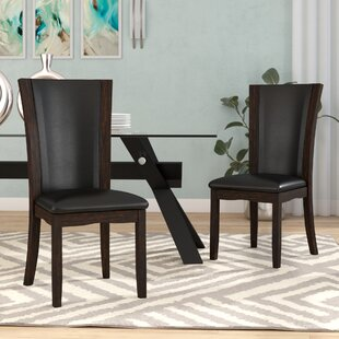 Reviews Uptown Upholstered Dining Chair (Set of 2) by Latitude Run