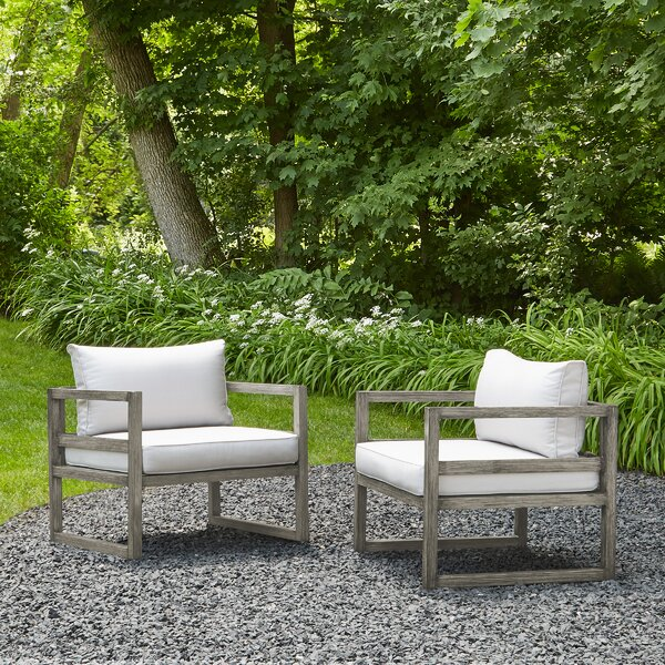 Monaco Patio Chair with Cushion (Set of 2) by Real Flame