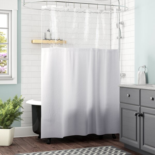 Cindy Window Vinyl Shower Curtain by Zipcode Design