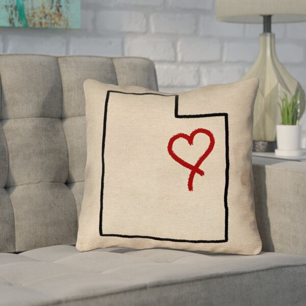 Sherilyn Utah Love Outdoor Throw Pillow by Ivy Bronx
