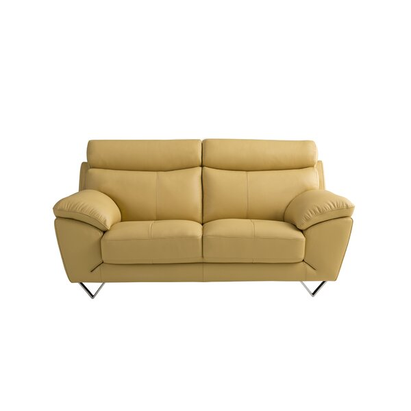 Valencia Leather Loveseat by American Eagle International Trading Inc.
