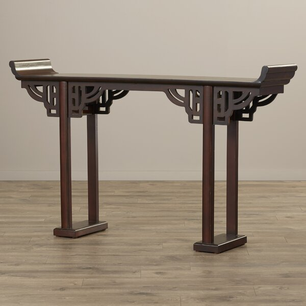 Arbaaz Kale Solid Wood Console Table by World Menagerie