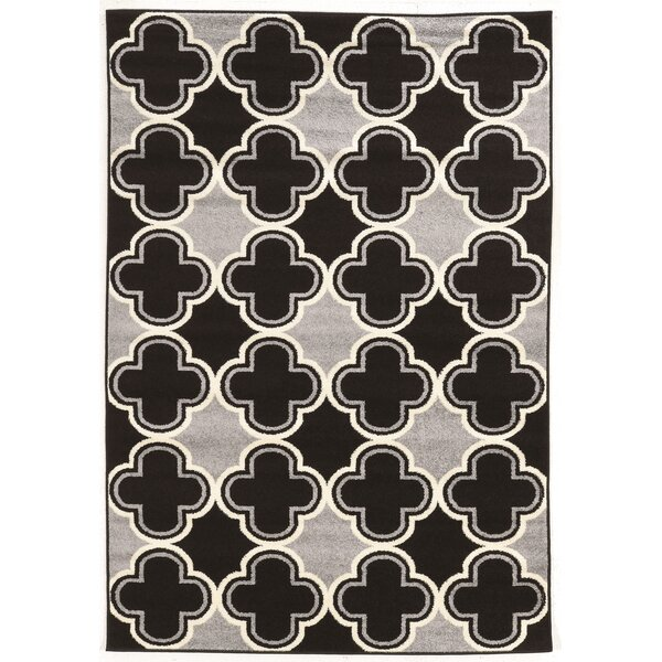 Biquele Black / Grey Area Rug by Wrought Studio
