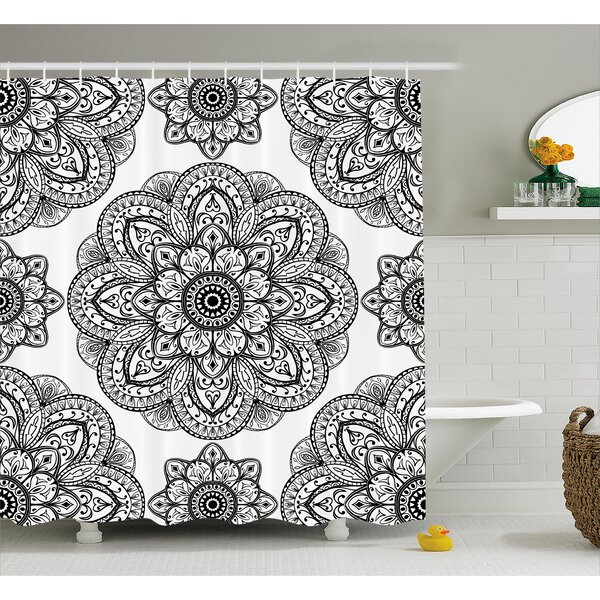 Keaney Mandala Ornate Pattern of Mandala With Symmetrical Shape and Tiles Arabesque Persian Image Shower Curtain by East Urban Home