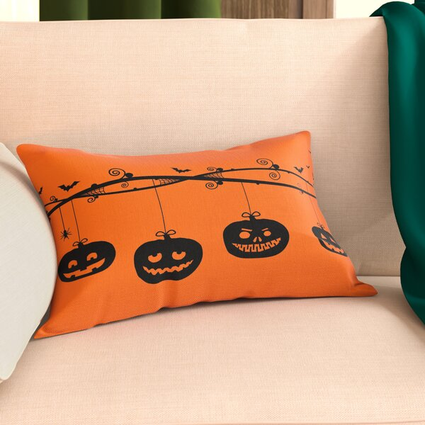 Pumpkins On A Branch Lumbar Pillow by The Holiday Aisle