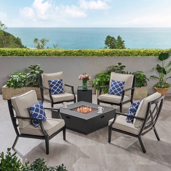 Boyden 6 Piece Multiple Chairs Seating Group with Cushions by Corrigan Studio