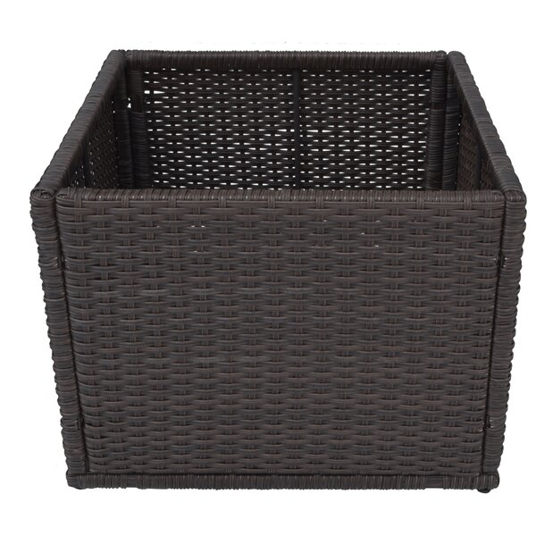 Straight Rattan Planter Box by Canadian Spa Co