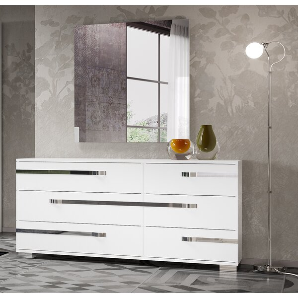 Quiana 6 Drawer Double Dresser by Orren Ellis