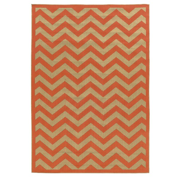 Beatrice Rust Indoor/Outdoor Area Rug by Threadbind
