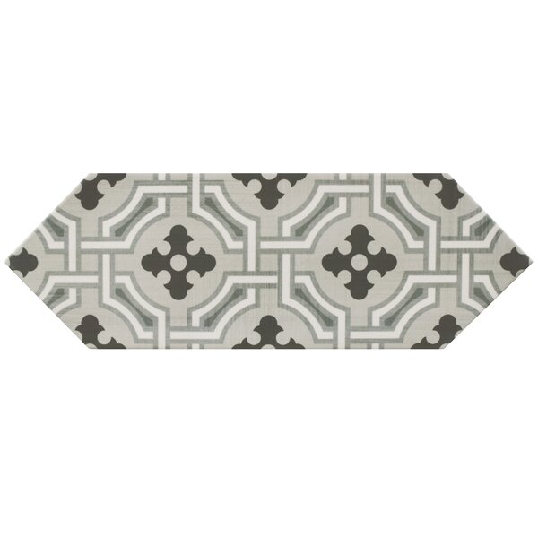Volant 4 x 11.75 Porcelain Field Tile in Gray/Black by EliteTile