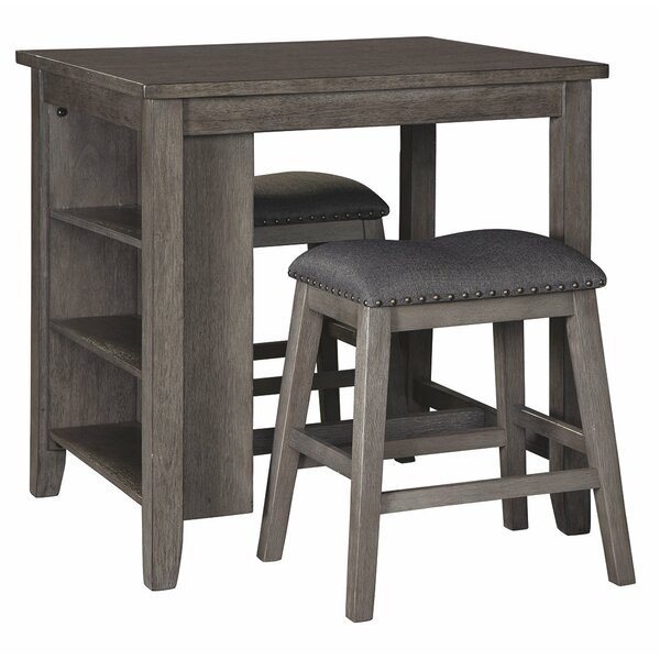 Jarrard Rect Drm 3 Piece Counter Height Dining Set By Gracie Oaks